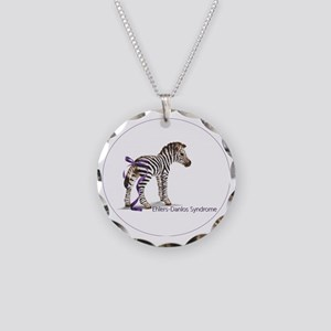 zebra with ribbon Oval Necklace Circle Charm