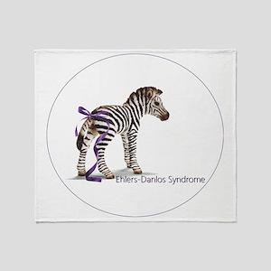 zebra with ribbon Oval Throw Blanket