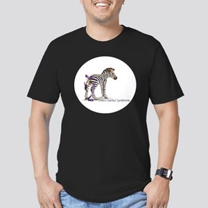 zebra with ribbon Oval Men's Fitted T-Shirt (dark)
