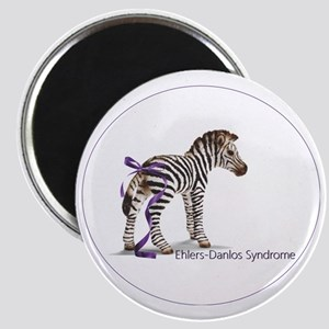 zebra with ribbon Oval Magnet