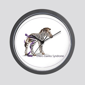zebra with ribbon Oval Wall Clock