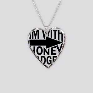 im with honey badger_BLACK Necklace Heart Charm