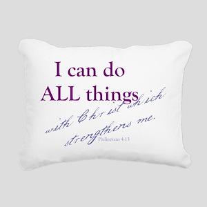 Philippians 4 13 Rectangular Canvas Pillow