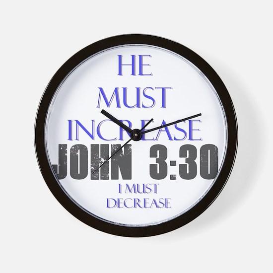 John 3 30 Wall Clock