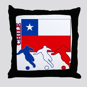 Chile Soccer Throw Pillow