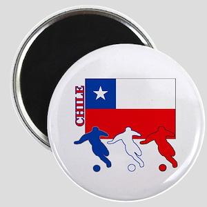 "Chile Soccer 2.25"" Magnet (10 pack)"