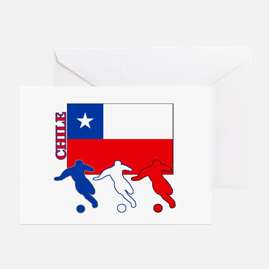 Chile Soccer Greeting Cards (Pk of 10)