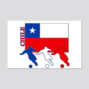 Chile Soccer Mini Poster Print