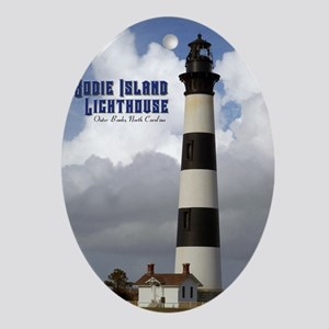 Bodie Island Lighthouse1 Oval Ornament