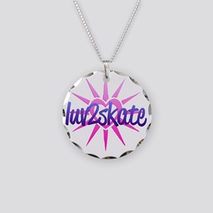 luv2skate Necklace Circle Charm