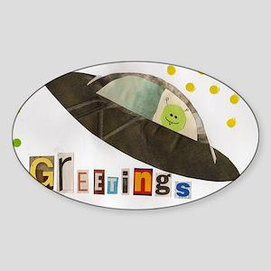 greetings Sticker (Oval)