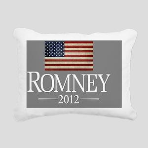 button Mitt Romney with  Rectangular Canvas Pillow