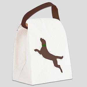 chocolate dog pocket Canvas Lunch Bag