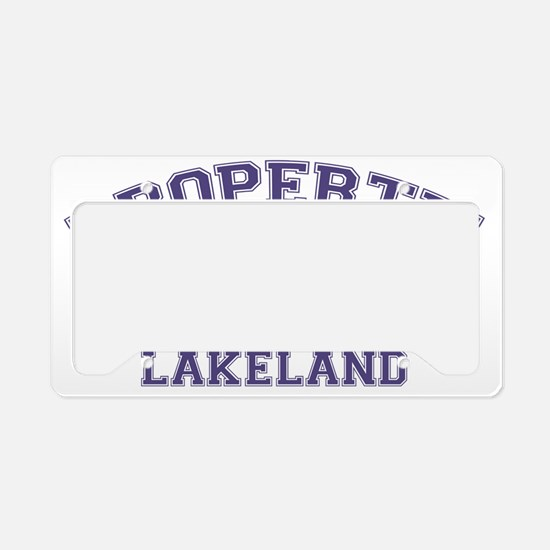 lakelandterrierproperty License Plate Holder