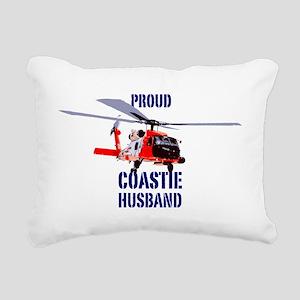 USCG Jayhawk Husband Rectangular Canvas Pillow