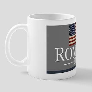 Romney with USA Flag sign Mug