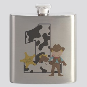Cowboy1stBirthday Flask