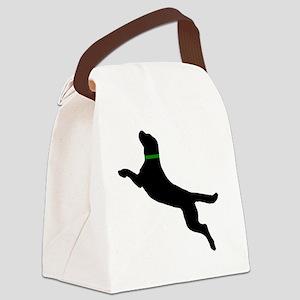 black dog new pocket Canvas Lunch Bag