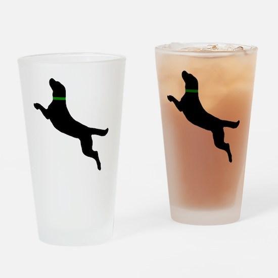 black dog new pocket Drinking Glass