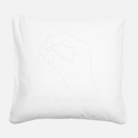 whitetee Square Canvas Pillow