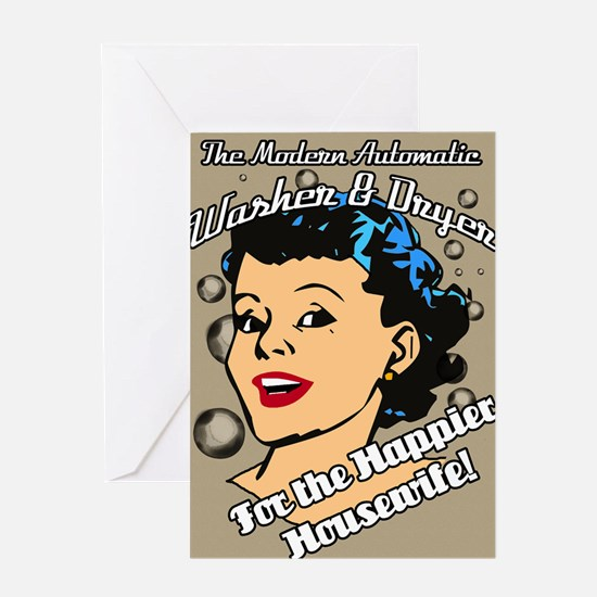HAPPIER-HOUSEWIFE-9X12-framed-print- Greeting Card