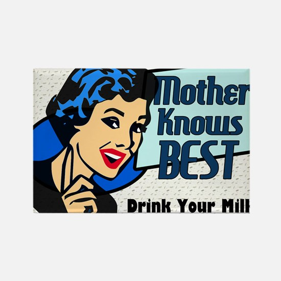 MOTHER-KNOWS-BEST-14x10_LARGE-FRA Rectangle Magnet