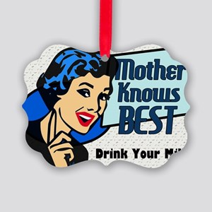 MOTHER-KNOWS-BEST-14x10_LARGE-FRA Picture Ornament
