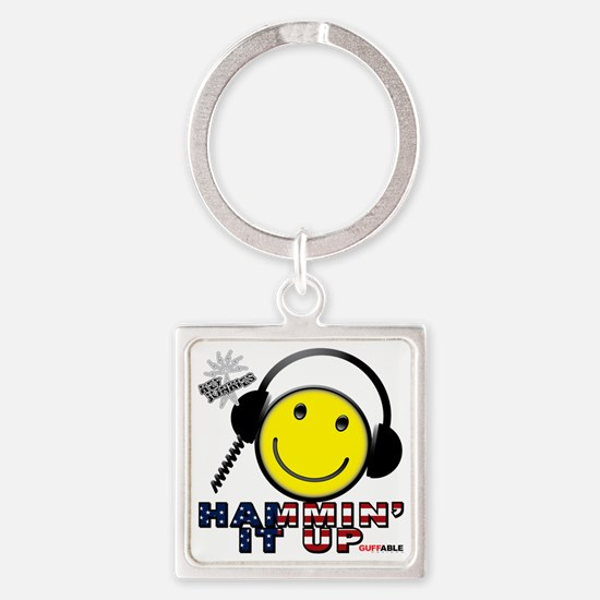 HAMMIN IT UP Square Keychain