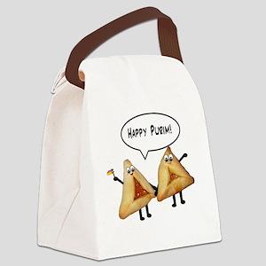 Happy Purim Hamantashen Canvas Lunch Bag
