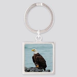 TabletCases_eagle_4 Square Keychain