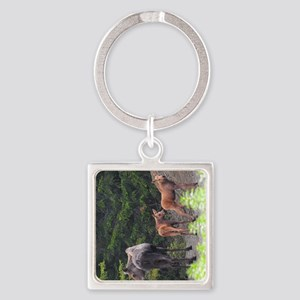 TabletCases_moose_2 Square Keychain