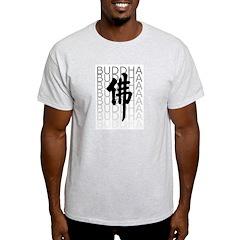 Buddha Calligraphy Ash Grey T-Shirt
