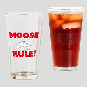 Moose Rule! Drinking Glass