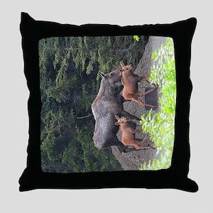 TabletCases_moose_5 Throw Pillow