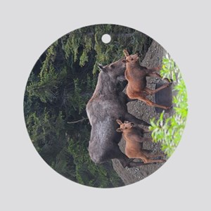 TabletCases_moose_5 Round Ornament