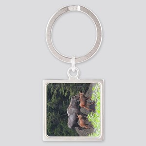TabletCases_moose_5 Square Keychain
