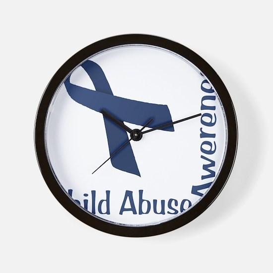 Child_abuse_Awareness_wht Wall Clock