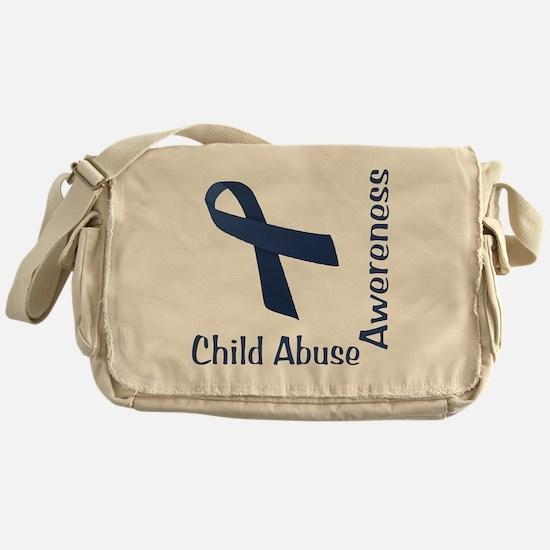 Child_abuse_Awareness_wht Messenger Bag