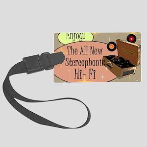 stereophonic-hi-fi-14x10_LARGE-F Large Luggage Tag