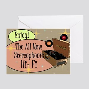 stereophonic-hi-fi-14x10_LARGE-FRAME Greeting Card