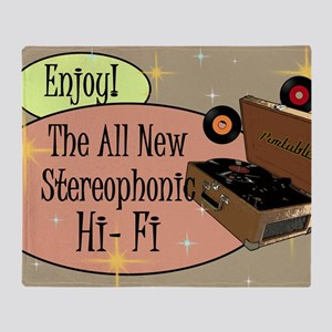 stereophonic-hi-fi-14x10_LARGE-FRAME Throw Blanket