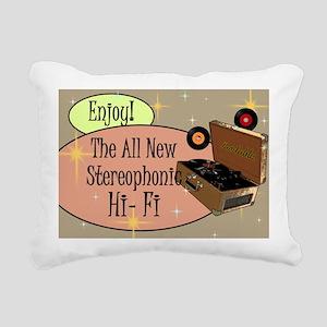 stereophonic-hi-fi-14x10 Rectangular Canvas Pillow