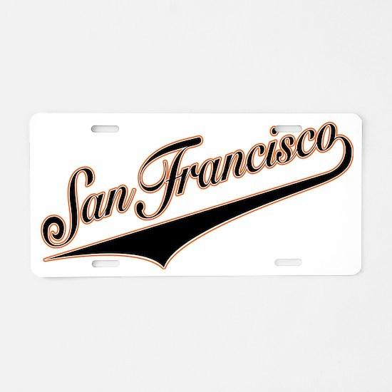 SanFrancisco 3 Aluminum License Plate