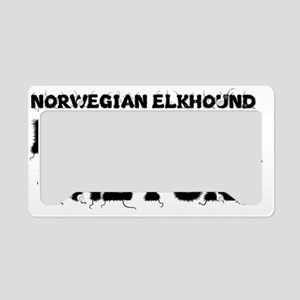 Norwegian Elkhound License Plate Holder