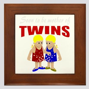 cute maternity twins Framed Tile