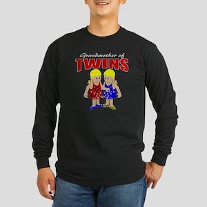 Grandmother of twins Long Sleeve Dark T-Shirt
