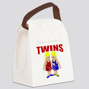 cute maternity twins Canvas Lunch Bag