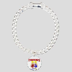 cute maternity twins Charm Bracelet, One Charm