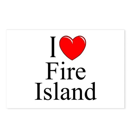 """""""I Love Fire Island"""" Postcards (Package of 8)"""