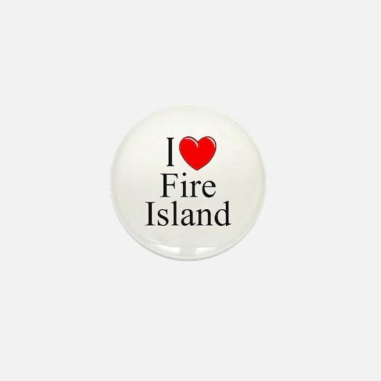 """""""I Love Fire Island"""" Mini Button"""